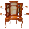 Bespaq Emporium Walnut Hat Shop Vanity Display Cabinet
