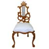 Bespaq Ornate Hand Carved Walnut Uphholstered Chair