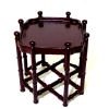 Bespaq Campaign Limited Edition Mahogany End Table