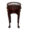 Bespaq Petite Round Mahogany Gallery Table with Drawer