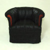 Bespaq Asian Art Deco Black Silk Chair