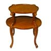 Bespaq Miladys Hand Carved Walnut Two Level Perfume Table