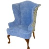 Bespaq Limited Edition Blue Wingback Chair Print Sides and Back