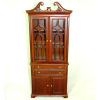 Bespaq Walnut Bonnet Secretary Desk with Glass Doors