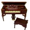 Bespaq Mahogany Petit Chateau Grand Box Piano Set