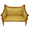 Bespaq Italia Handcarved Upholstered Walnut Sofa Couch