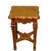 Bespaq Italia Handcarved Walnut End Table