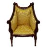 Bespaq Italia Handcarved Upholstered Mahogany Chair