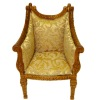 Bespaq Italia Handcarved Upholstered Walnut Chair