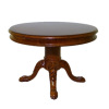 Bespaq Round Carved Wood Claw Foot Table