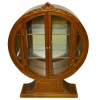 Bespaq Swanson Art Deco Round Mirrored Display Cabinet