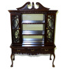 Bespaq Mirrored Mahogany English China Cabinet Hutch