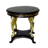 Bespaq Uptown Art Deco Black and Gold Coffee Table