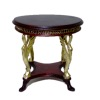 Bespaq Uptown Art Deco Mahogany and Gold Coffee Table
