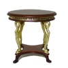Bespaq Uptown Art Deco Walnut and Gold Coffee Table