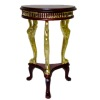 Bespaq Uptown Art Deco Mahogany and Gold End Table