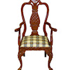 Bespaq Walnut Martinique Pineapple Arm Chair