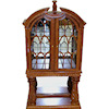 Bespaq Martinique Mirrored Walnut China Cabinet