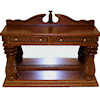 Bespaq Martinique Walnut Pineapple Console Table