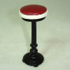 Bespaq Vintage Diner Soda Shoppe Upholstered Counter Stool