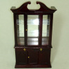 Bespaq Mahogany Broken Bonnet Breakfront China Cabinet