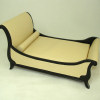 Bespaq Art Deco Moderne Cream Leather Chaise Bed