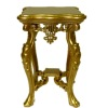 Limited Edition Bespaq Antique Gold Fantasy Lyre End Table