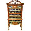 Bespaq Washington Handpainted Asian High Boy Dresser