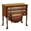 Bespaq Ruskin Walnut Bicolor Dresser with Hatbox Drawer