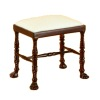 Bespaq Ruskin Upholstered Walnut Bench Seat