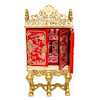Bespaq Gilded Red Chinoise Gibbons Asian Cabinet