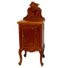 Bespaq Art Nouveau Lace Hand Carved Walnut Nightstand