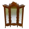 Bespaq Art Nouveau Lace Mirrored Walnut Armoire