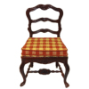 Bespaq Red Plaid Marne Mahogany Chair