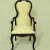 Bespaq Handcrafted Mahogany French Country Chair