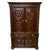 Bespaq Wexburgh Walnut Armoire Medieval Tall Press