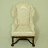 Bespaq Wexburgh Saxe Brocade Walnut Wingback Chair