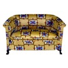 Limited Edition Bespaq Art Deco Gold Pattern Sofa