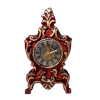 Bespaq Gilded Mahogany Mantle Clock with Metal Hands
