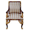Bespaq Golden Empire Upholstered Walnut Easy Chair