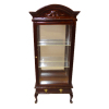 Bespaq Mahogany Mirrored Curio Cabinet with Drawer