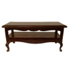 Bespaq Mahogany Coffee Table with Shelf Hand Carved