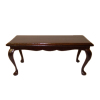 Bespaq Mahogany Victorian Cocktail Coffee Table Hand Carved