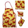Crabby BBQ Grilling Apron Potholders Set