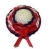 Patriotic Red White and Blue Ladies Hat with Rose