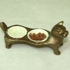 Brooke Tucker Bronze Cat Food and Water Dish