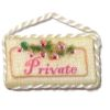 Brooke Tucker Handcrafted Private Fabric Door Sign