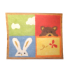 Brooke Tucker Teddy Bear and Bunny Rabbit Area Rug Velvet Paper