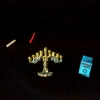 Hanukkah Menorah and Box of Candles