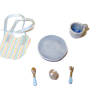 Handcrafted Deluxe Blue Baby Feeding Set